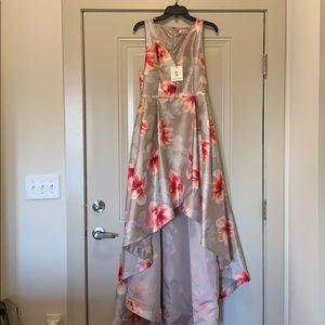 BRAND NWT Calvin Klein high low gown!!